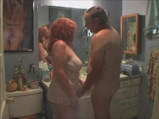 Super-fucking-hot sandy-haired cougar ravaged in douche