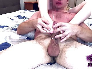 Slut really wanted to jerk my dick with her feet
