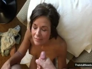 Mother Gives The hottest deep throat Ever