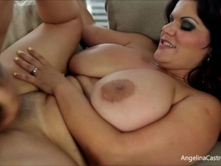 'Latino BF Pleases Her Horny Miami Girl Angelina Castro By Eating Her Out!'