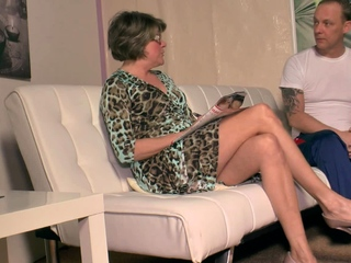 german grandmother get wet at massage and want fuck