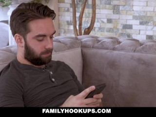 FamilyHookUps - envious Stepmom Sucks Stepsons bushwa