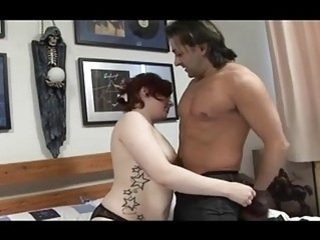 Musician shows his milf readhead fan the way of cock
