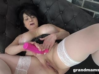 BBW Granny Cums after Years