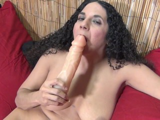 My Hot Stepmom In High Heels With Her Big Dildo ( 2 Real Orgasms!)