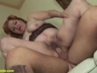 """""""74 years old toothless mom fucked"""""""