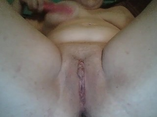 Opened up and have fun with yummy fucktoy