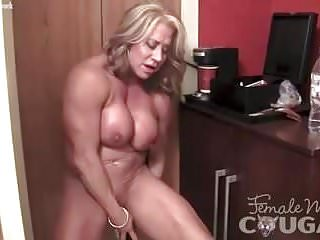 Matured womanlike Bodybuilder rip current their way distended Clit