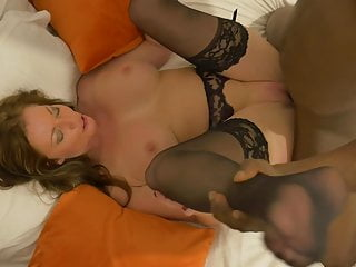 Milky huge-titted cougar nailed by ebony sonny