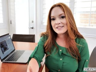 Redhead mom Summer Harts whips stepsons dick