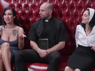 Lily Lane And Petra Davis - Take My Big Ass Moaned The Horny Nun