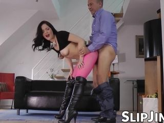 Beautiful British babe fucked by sir Jim before sixtynine