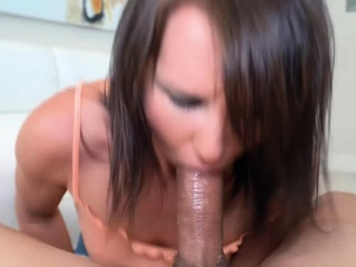 House wife Riley Jacobs surprises hubby with a blowjob