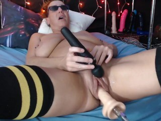 Private show from Chaturbate pumped up pussy and fuck machine