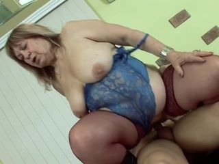 Hungarian Granny in Stockings Porn Video