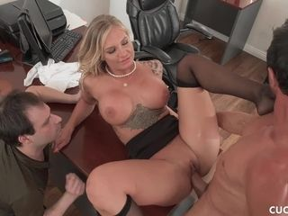 Sissy Cucked Husband Watches Busty Blonde Wife Gets Eaten Out And Plowed
