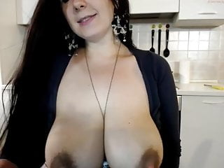 Gorgeous Dolce With huge Areolas and Boobs dripping milk