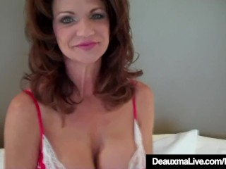 Hot Cougar Deauxma Tests to whatever manner unfathomable cavity She tush improve around 9in Dildo!