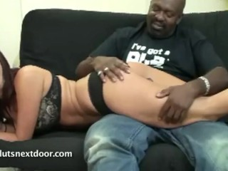 Older Black Man spanking a Bratty slut