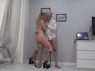 Gorgeous Submissive Woman. Thigh fuck and squirt