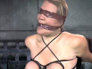 Domination & submission victim oiledup and canned during restrain bondage