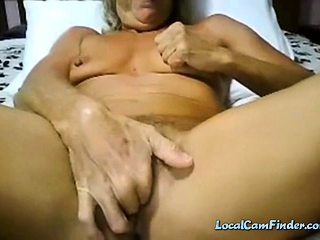 Grannie finishes off on web cam