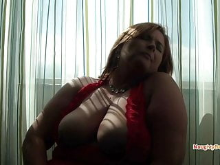 Big tits Desiree makes her hairy pussy gush