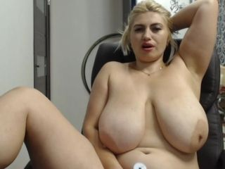 Very fat housewife with big sagging boobs - webcam show