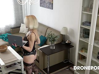 Czech Milf funcking on tap digs - close-matched overhear cam