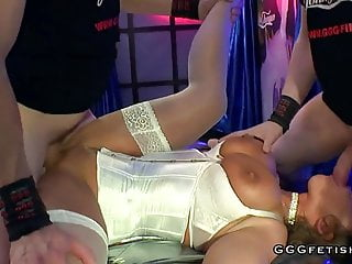 Extreme cums bukkakes and facials on poland milf