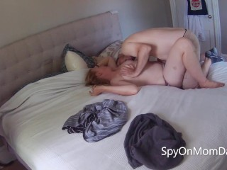 'Real amateur MILF gets taken on bed, goes for ride than milks for cum'