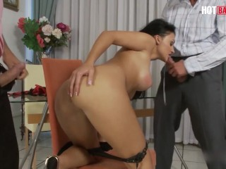 LETSDOEIT - Aletta Ocean Hungarian MILF Gets Her Pussy And Mouth Fucked By Two Cocks Full Scene