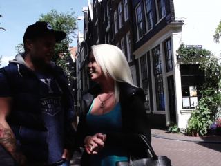 Dutch hooker fingered by black guy outdoors
