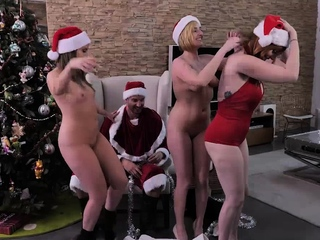 Bad MILFs celebrate Xmas their own way
