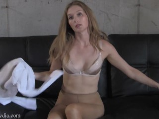 That's Not Why You Hired Me - Star Nine Pantyhose Masturbation Instruction FULL VIDEO