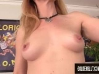 """Mature Redhead Sable Renae Cums Hard After a Machine Destroys Her Pussy"""