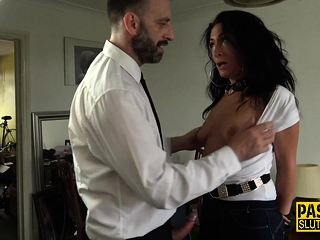 Bound and gagged sub fingered and fucked