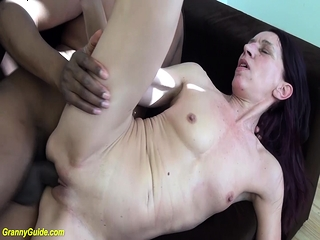 ugly old mom first interracial