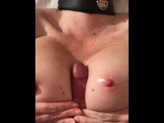 Titty Fucking Collared Wife with Big Italian Dick - Cum on Boobs