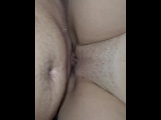My stepbrother's fat cheating wife came by for a quick one with my monster cock sleeve on