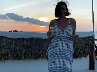 Catherine Bell - dancing outside on vacation, Nov 11, 2019