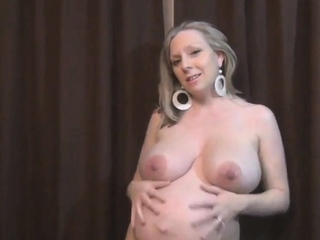 Pregnant blonde Mommy