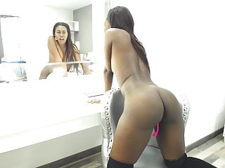 Skinny Black Colombian With A Big Ass