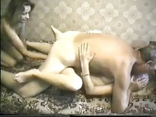 two skinny russian having sex with oldman