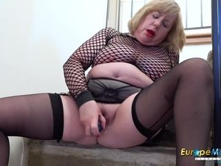 EuropeMaturE Fishnet Shirt on Hot Mature Chick