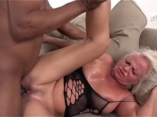 Milky mature has numerous ejaculations during fuckfest with dark-hued fellow