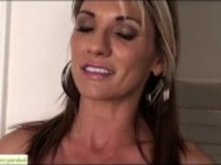 """""""Busty cougar Mercedes Johnson touches Clit"""""""