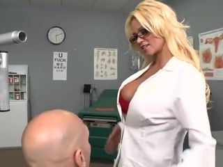 Pleasing yellow-haired MILF Nikita Von James performing in real medical XXX video