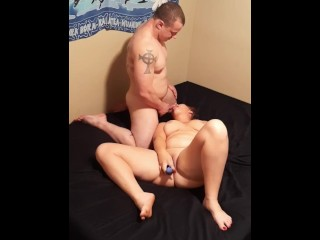 Hot wife teases, then gets pussy eaten and fucked