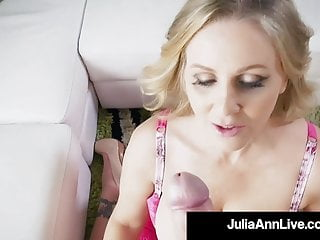 Award Winning cougar Julia Ann drains shaft With Her steamy hatch!